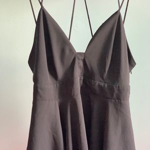 Express black strappy shirt in excellent condition
